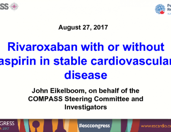 Rivaroxaban With or Without Aspirin in Stable Cardiovascular Disease