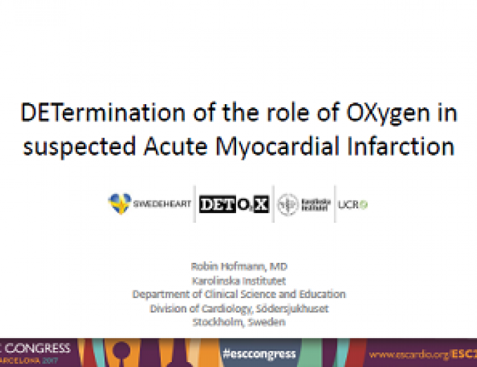 DETermination of the role of OXygen in suspected Acute Myocardial Infarction