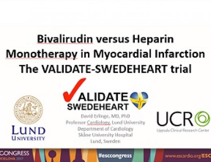 Bivalirudin vs Heparin Monotherapy in Myocardial Infarction:The VALIDATE-SWEDEHEART Trial