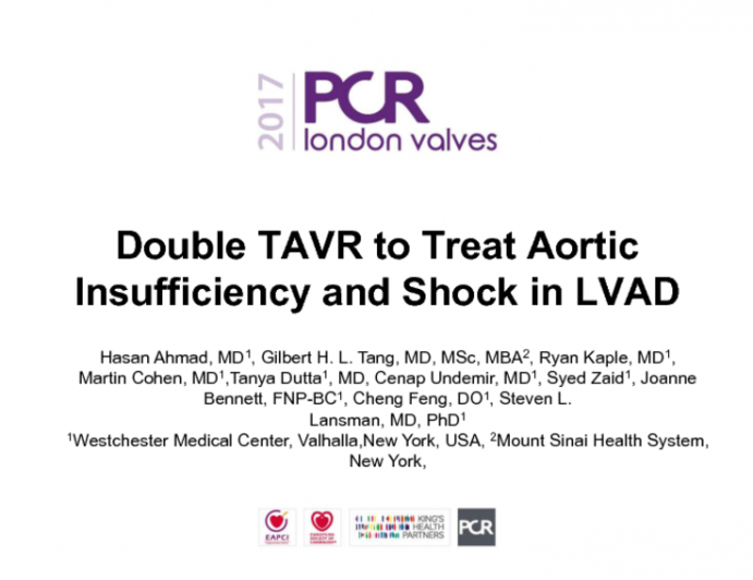 Double TAVR to Treat Aortic Insufficiency and Shock in LVAD