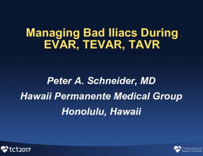 Managing Bad Iliac Arteries During EVAR, TEVAR, TAVR, and Percutaneous LVAD Procedures
