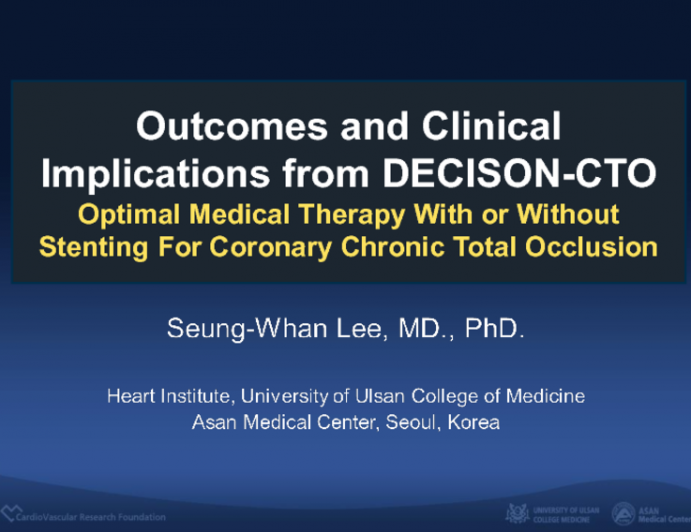 Outcomes and Clinical Implications From DECISION-CTO