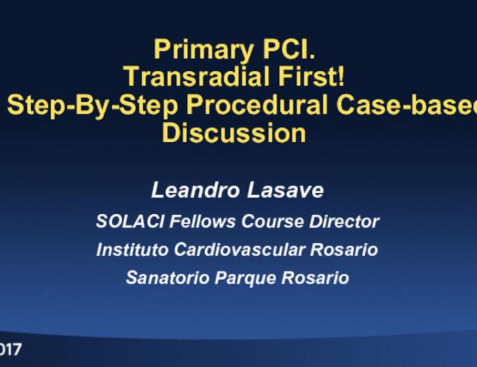 Transradial First! A Step-By-Step Procedural Case-based Discussion