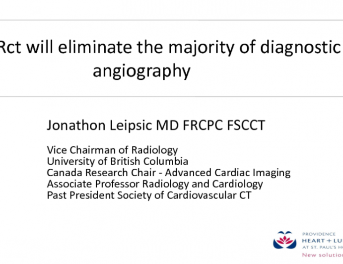 Debate: CT-FFR Will Replace Most Diagnostic Catheterizations!