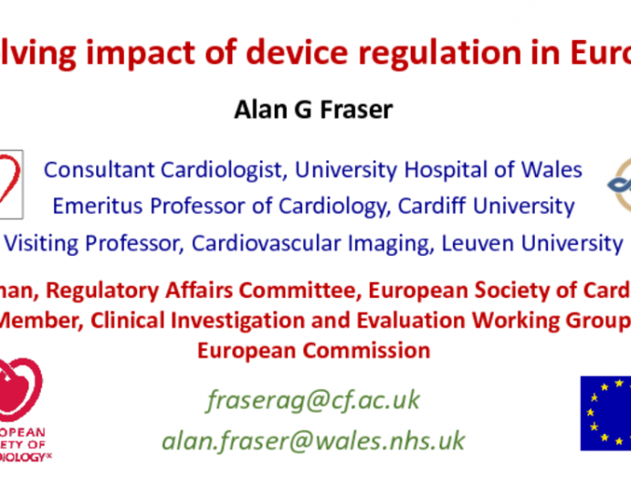 Keynote Lecture. European Commission: Evolving Impact of Device Regulation in Europe