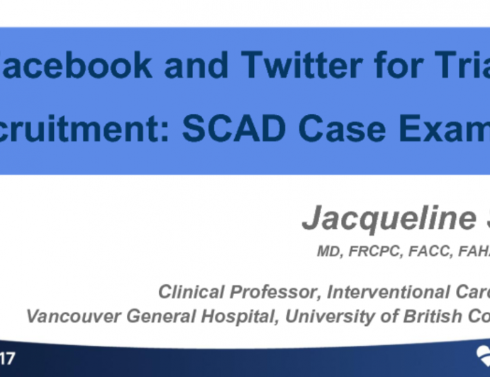 Facebook and Twitter for Trial Recruitment: SCAD Case Example