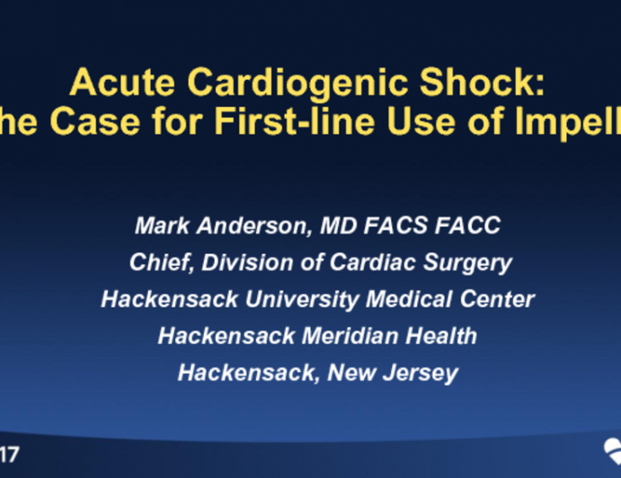 Acute Cardiogenic Shock: The Case for First-line Use of Impella