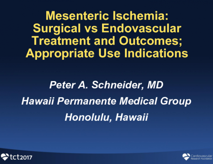 Surgical vs Endovascular Treatment and Outcomes: Appropriate Use Considerations