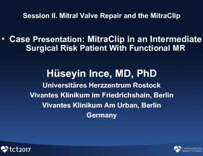 Case Presentation: MitraClip in an Intermediate Surgical Risk Patient With Functional MR