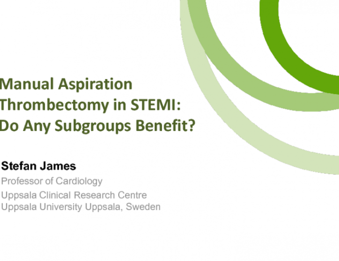 Manual Aspiration Thrombectomy in STEMI: Do Any Subgroups Benefit?