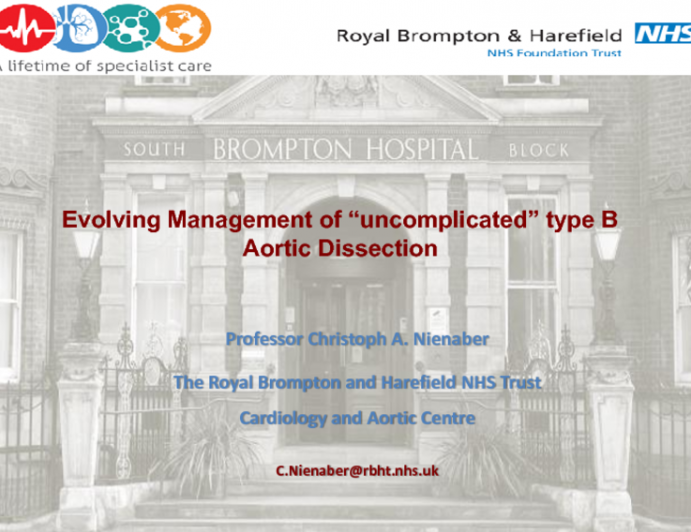 """Evolving Management of """"Uncomplicated"""" Type B Dissections"""