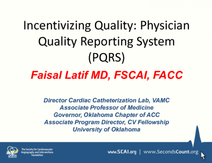 Incentivizing Quality: Physician Quality Reporting System (PQRS)