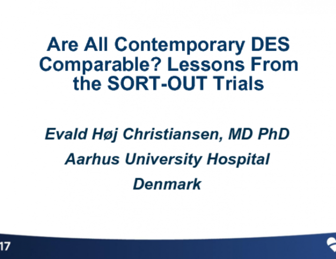 Are All Contemporary DES Comparable? Lessons From the SORT-OUT Trials