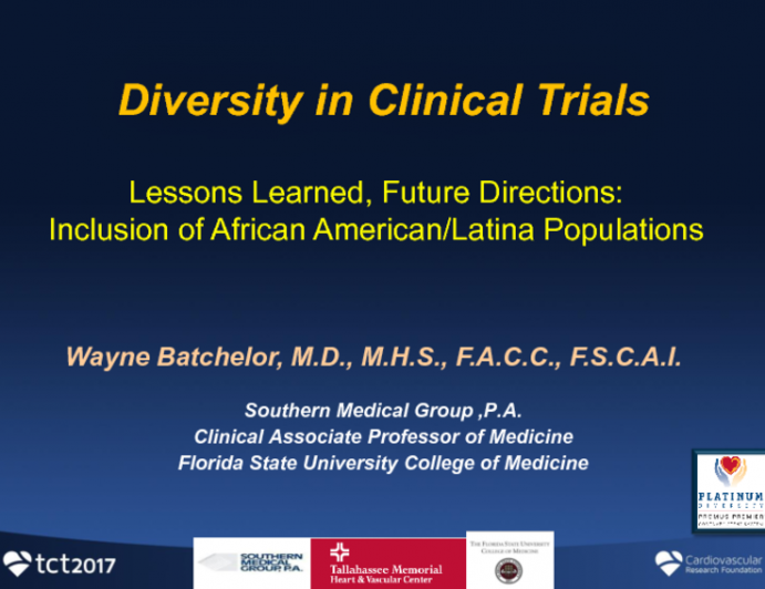 Diversity in Clinical Trials (Lessons Learned, Future Directions): Inclusion of African American/Latina Populations