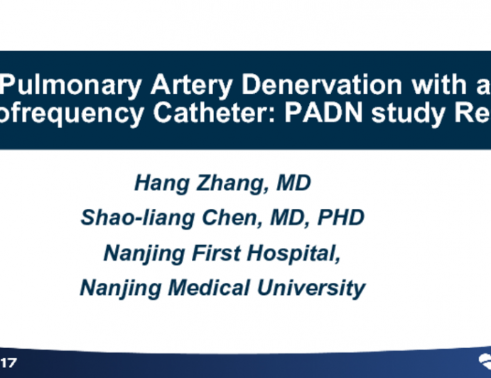 Pulmonary Artery Denervation With a Radiofrequency Catheter: PADN Study Results