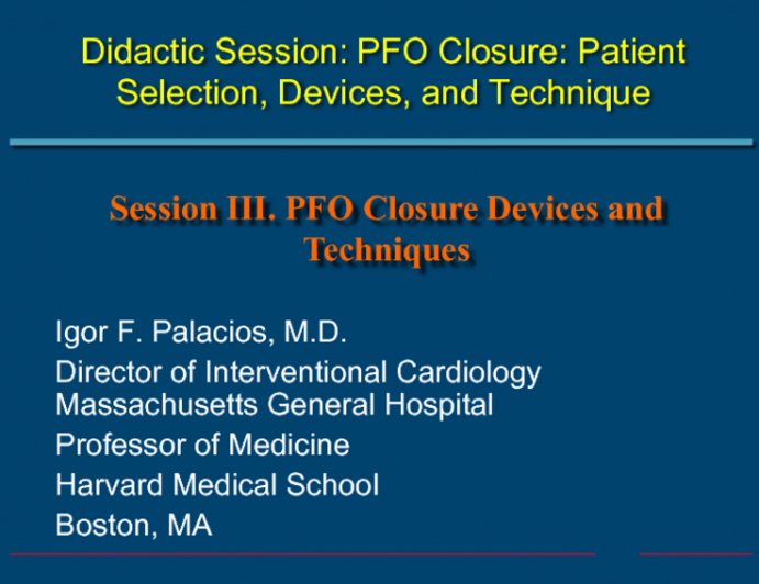 Complications During and After PFO Closure, Case #1: Pericardial Effusion