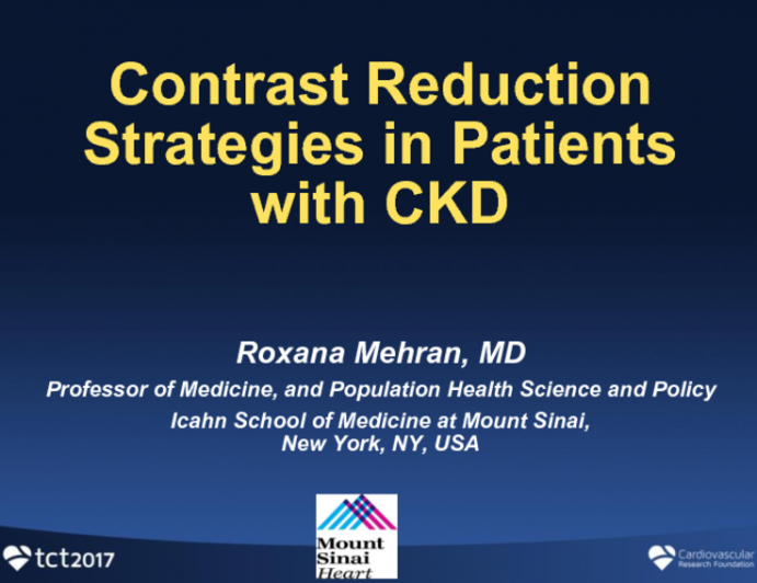 Contrast Reduction Strategies in the Patient With CKD
