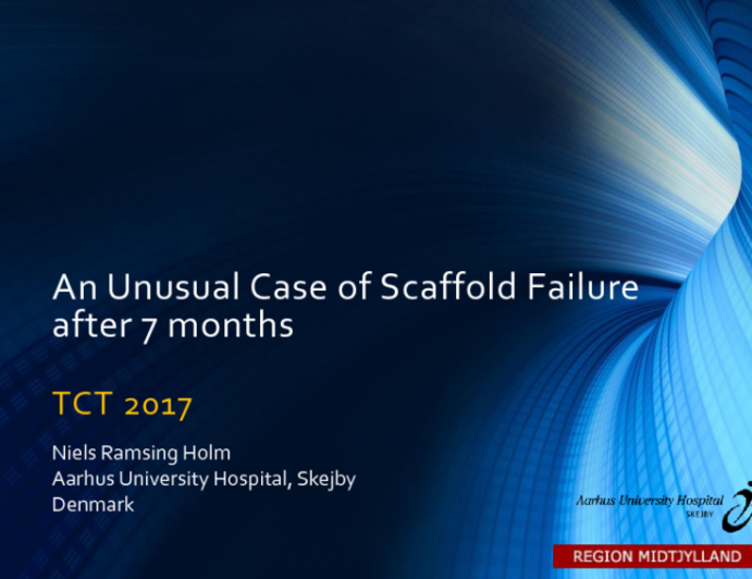 Case #12 (With Discussion): An Unusual Case of Scaffold Failure Within 1 Year