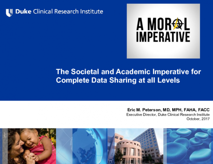 Featured Lecture: The Societal and Academic Imperative for Complete Data Sharing at all Levels
