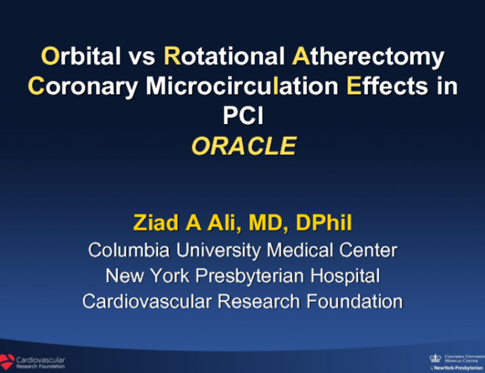 Effects of Orbital vs Rotational Atherectomy on the Coronary Microcirculation