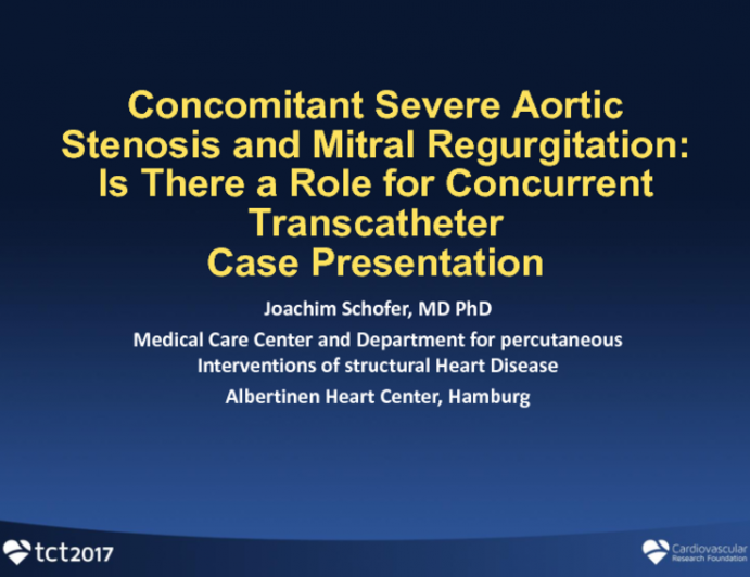 Concomitant Severe Aortic Stenosis and Mitral Regurgitation: Is There a Role for Concurrent Transcatheter Therapy?