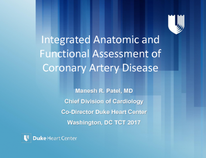 Integrated Anatomical and Functional Assessment of Coronary Artery Stenosis