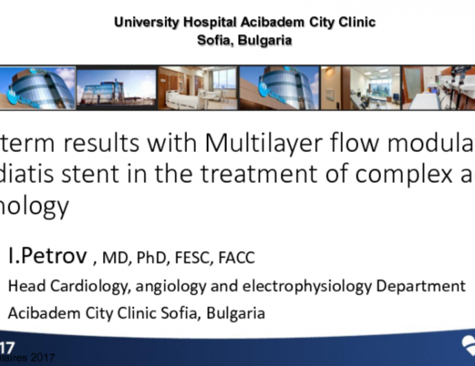 Bulgaria Presents: Novel Multilayer Flow Modulation (MFM) Technology for Complex Thoracoabdominal and Juxtarenal Aneurysms