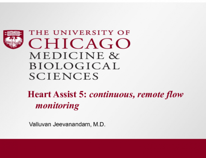 Heart Assist 5: Continuous, Remote Flow Monitoring