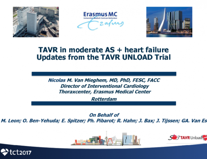 TAVR in Moderate Aortic Stenosis + Heart Failure: Updates From the UNLOAD Trial