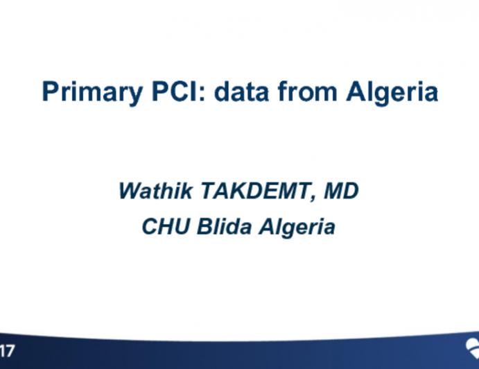 Primary PCI: Data From Algeria