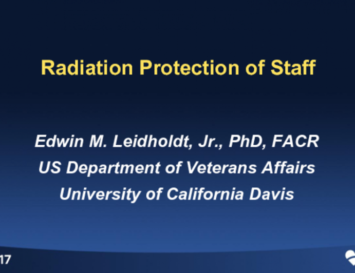 Physician and Staff Radiation Protection
