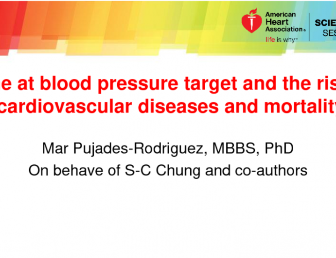 Time at Blood Pressure Target and the Risk of Cardiovascular Diseases and Mortality