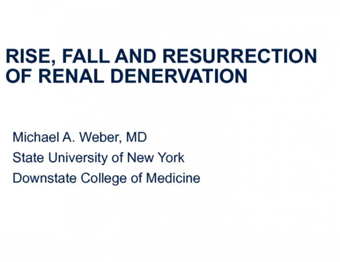 Rise, Fall And Resurrection of Renal Denervation