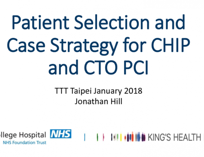 Patient Selection and Case Strategy for CHIP and CTO PCI