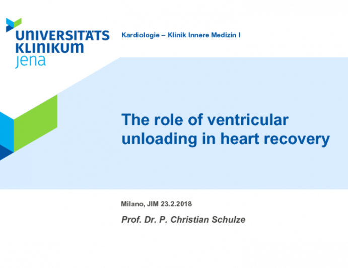 The role of ventricular unloading in heart recovery