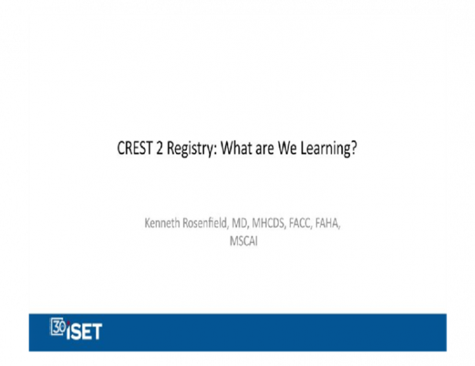 CREST 2 Registry: What Are We Learning?