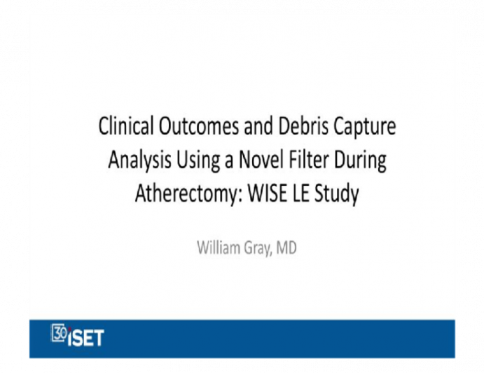 Clinical Outcomes and Debris Capture Analysis Using a Novel Filter During Atherectomy: WISE LE Study