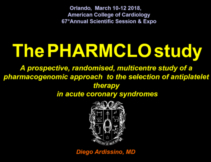 The PHARMCLO Study: A Prospective, Randomised, Multicentre Study of a Pharmacogenomic Approach  to the Selection of Antiplatelet Therapy  in Acute Coronary Syndromes