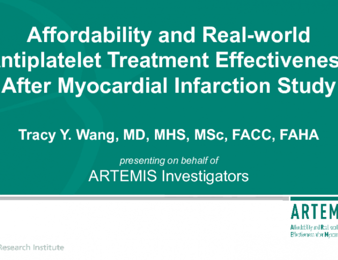 Affordability and Real-world Antiplatelet Treatment Effectiveness After Myocardial Infarction Study
