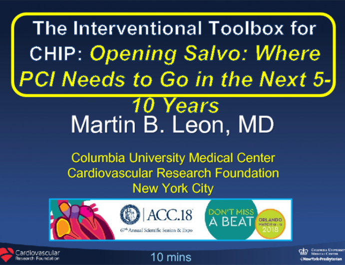 Opening Salvo: Where PCI Needs to Go in the Next 5-10 Years