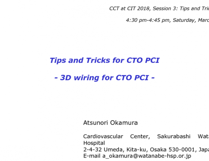 Tips and Tricks for CTO PCI: 3D Wiring for CTO PCI