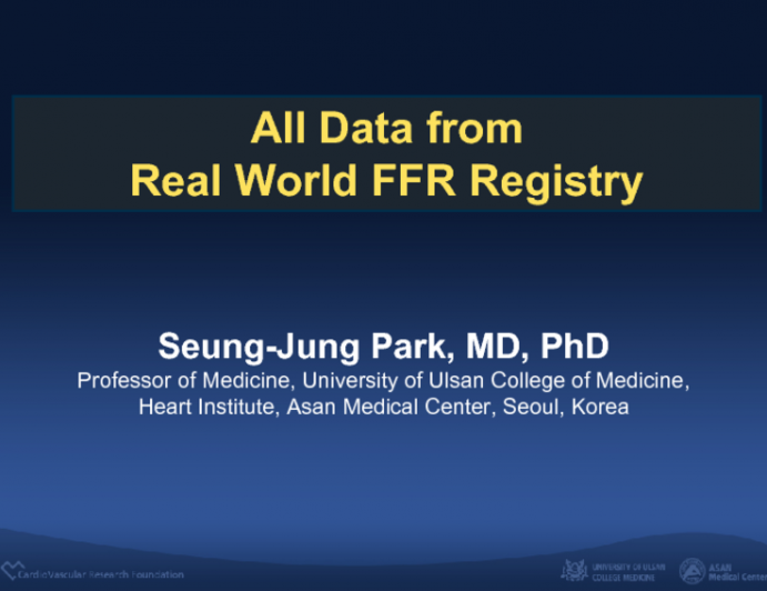All Data from  Real World FFR Registry