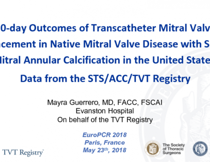 30-day Outcomes of Transcatheter Mitral Valve Replacement in Native Mitral Valve Disease with Severe Mitral Annular Calcification in the United States: Data from the STS/ACC/TVT Registry