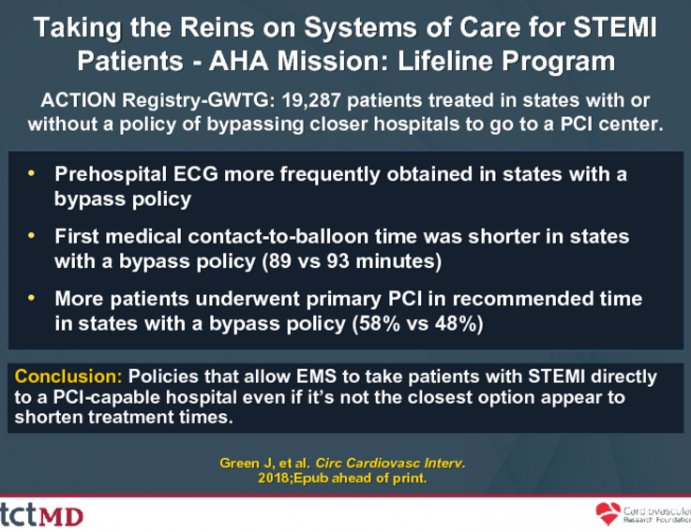 Taking the Reins on Systems of Care for STEMI Patients - AHA Mission: Lifeline Program