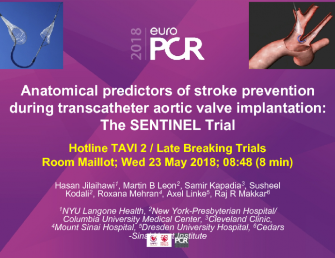 Anatomical Predictors of Stroke Prevention During Transcatheter Aortic Valve Implantation: The SENTINEL Trial