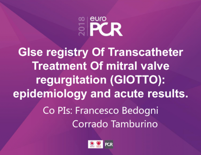 GISE Registry of Transcatheter Treatment of Mitral Valve Regurgitation (GIOTTO): Epidemiology and Acute Results