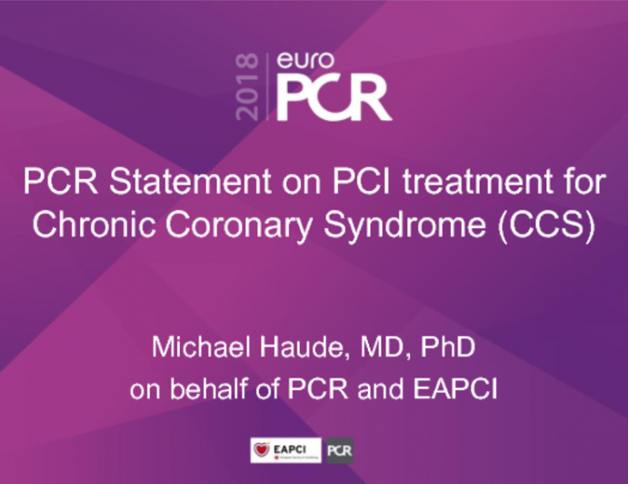 PCI Statement on PCI Treatment for Chronic Coronary Syndrome