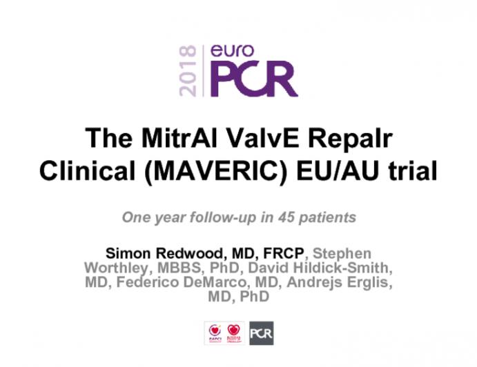 The MitrAl ValvE RepaIr Clinical (MAVERIC) EU/AU trial