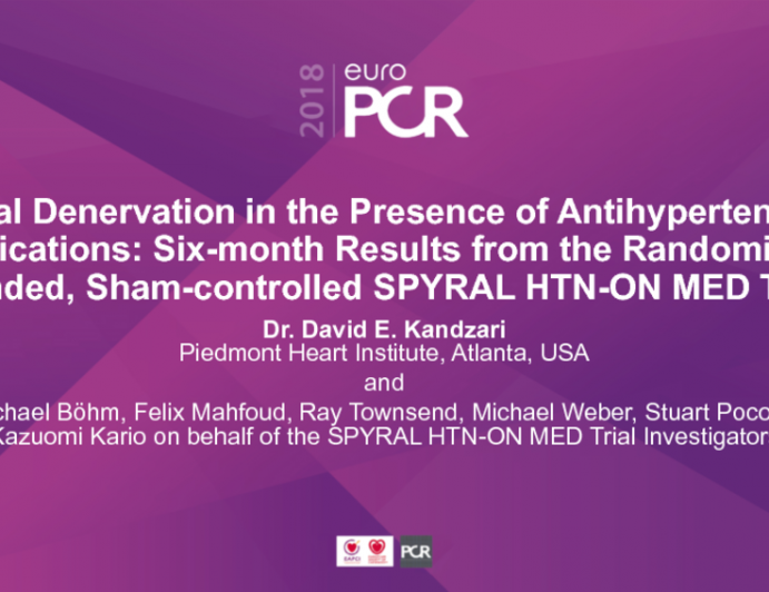 Renal Denervation in the Presence of Antihypertensive Medications: Six-month Results from the Randomized, Blinded, Sham-controlled SPYRAL HTN-ON MED Trial