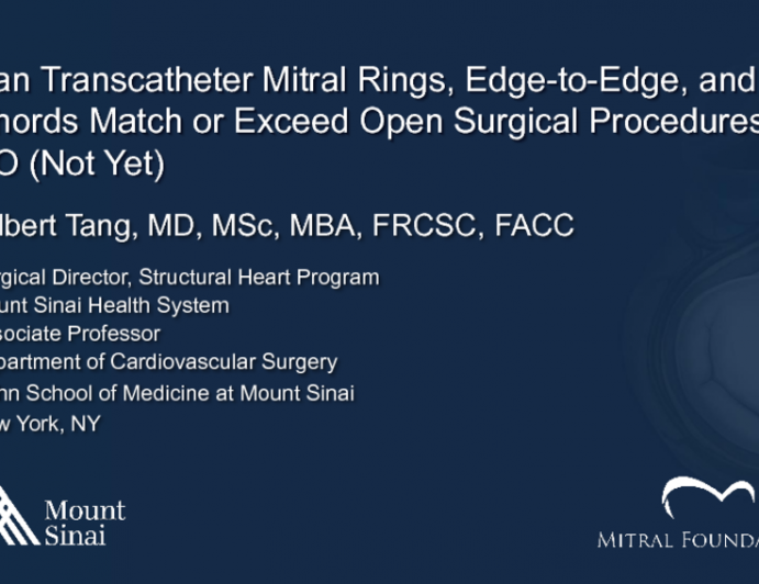 Can Transcatheter Mitral Rings, Edge-to-Edge, and Chords Match or Exceed Open Surgical Procedures? NO!